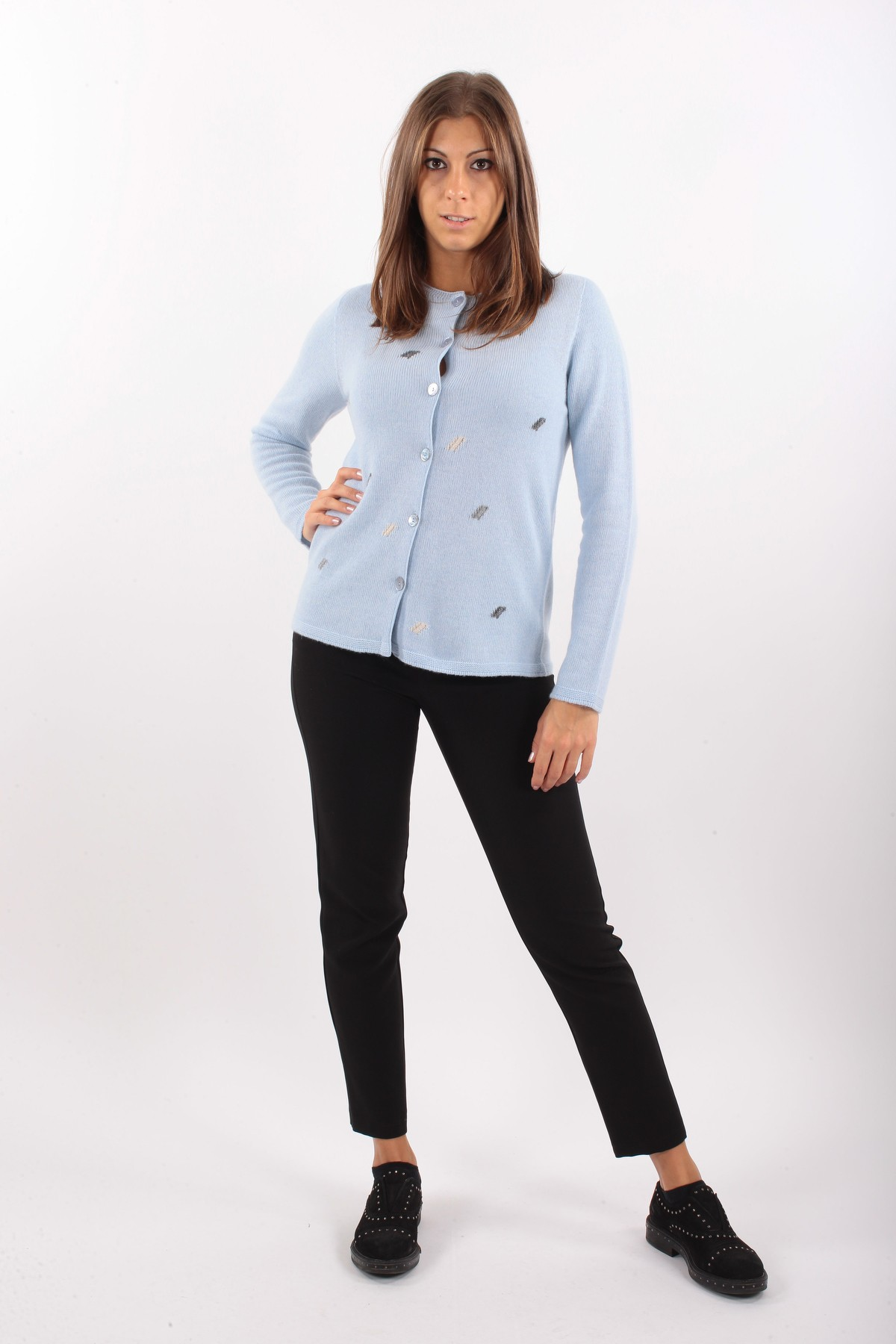 KOREAN CASHMERE BLEND WITH CONTRASTING INSERTS for women -  - Paquito Pronto Moda Shop Online