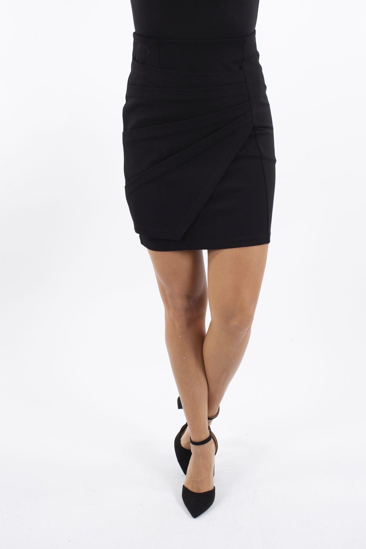 TUBE SKIRT IN PUNTO MILANO FABRIC  for woman - BLACK - Paquito Pronto Moda Shop Online