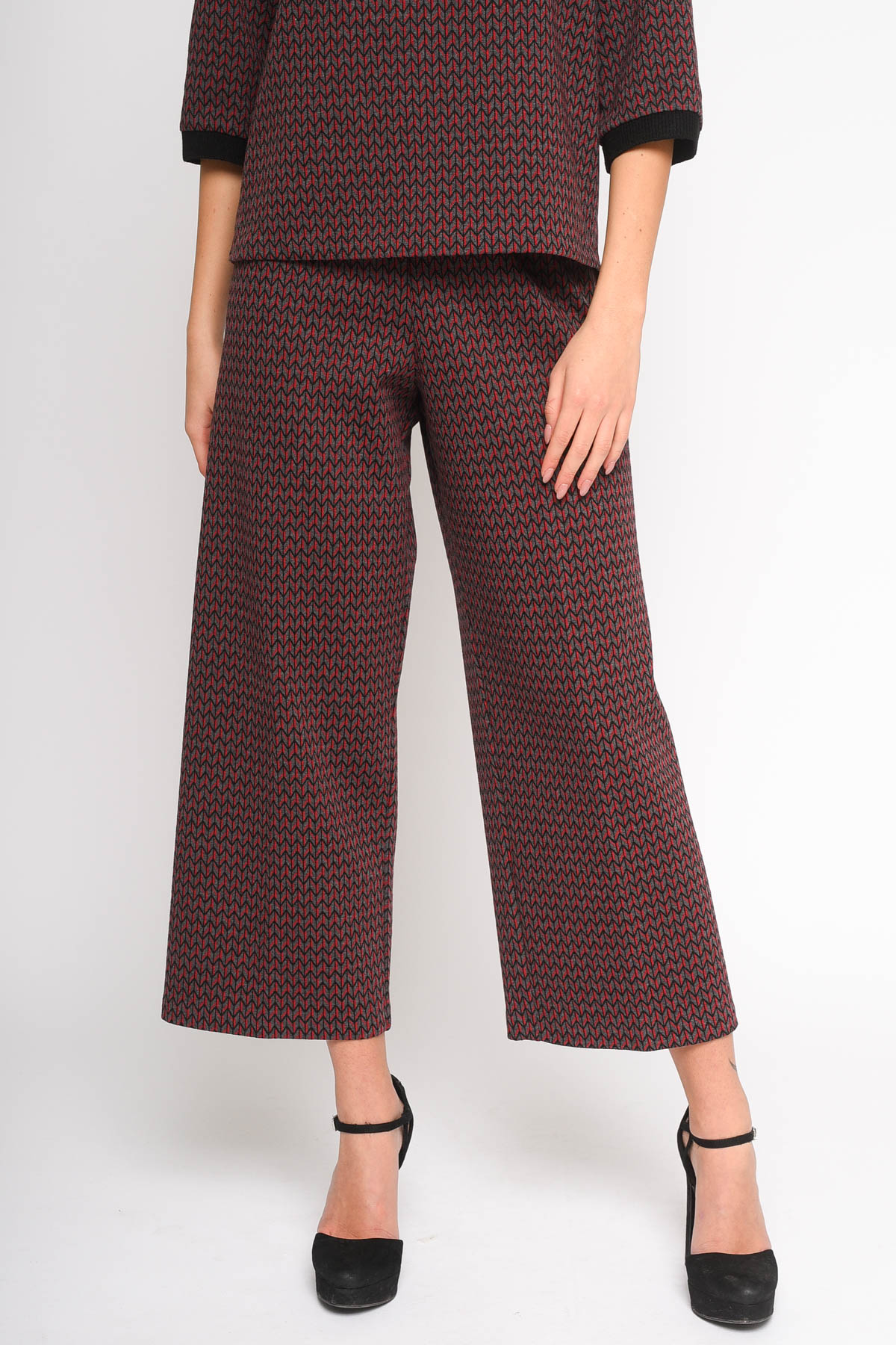 PANTALONE GAUCHO A FANTASIA  for woman - GREY - Paquito Pronto Moda Shop Online