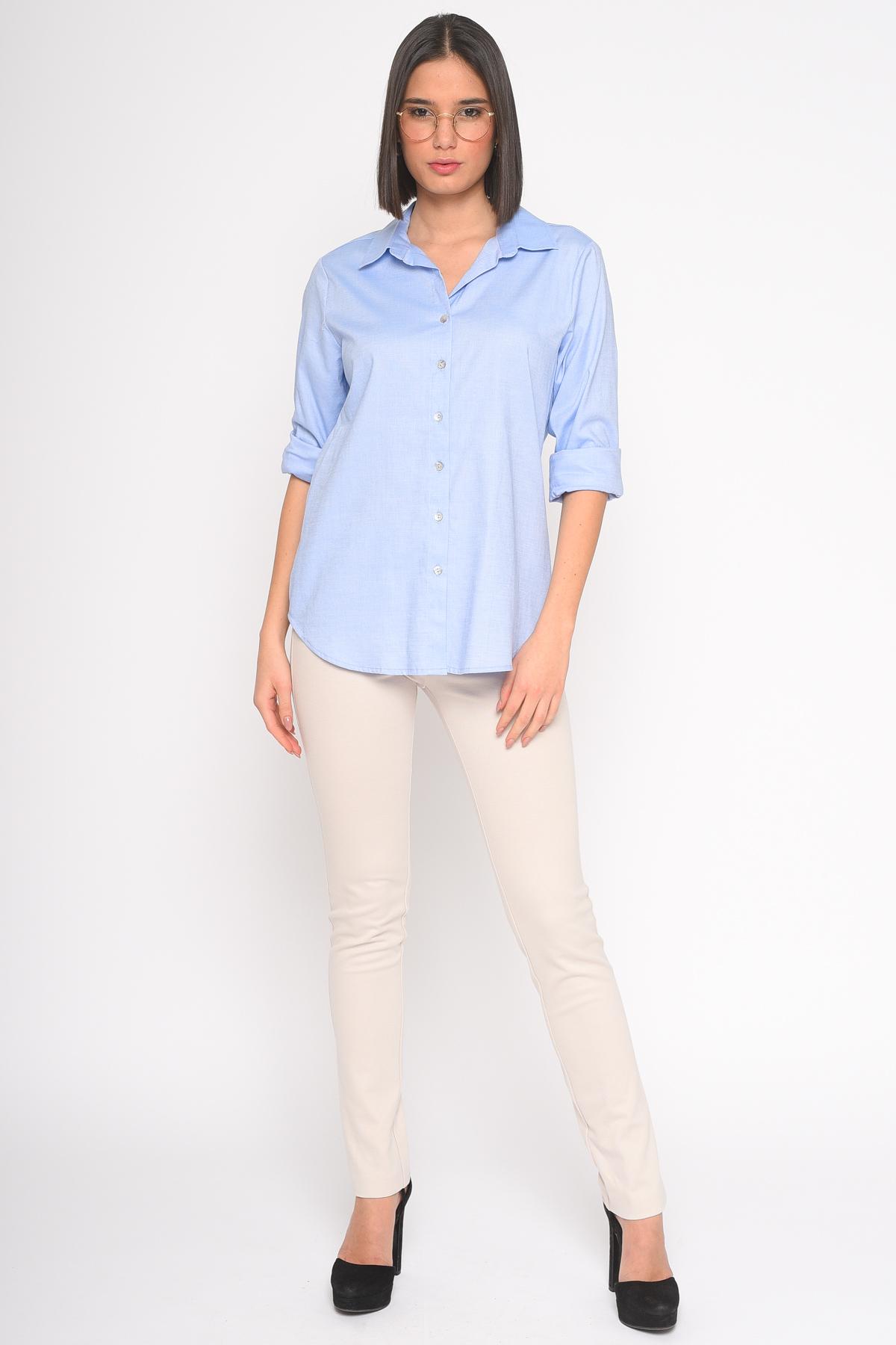CAMICIA IN COTONE  da donna - AZZURRO - Paquito Pronto Moda Shop Online