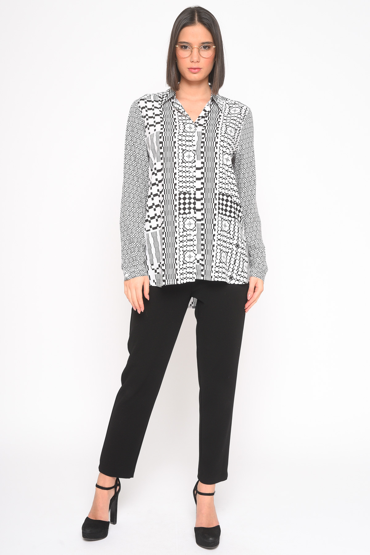 GEOMETRIC PATTERN SHIRT IN VISCOSE  for woman - ONLY - Paquito Pronto Moda Shop Online