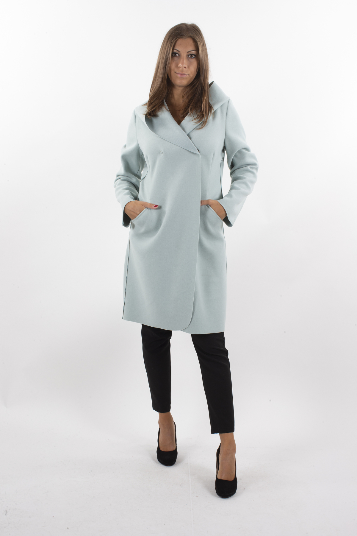 CLOTH COAT WITH HOOD AND POCKETS  for woman -  - Paquito Pronto Moda Shop Online