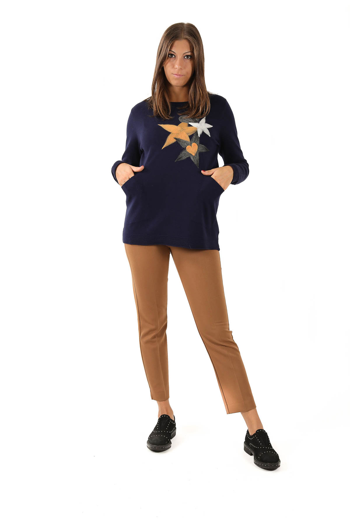 MAGLIA IN  VISCOSA CON TASCHE da donna -  - Paquito Pronto Moda Shop Online