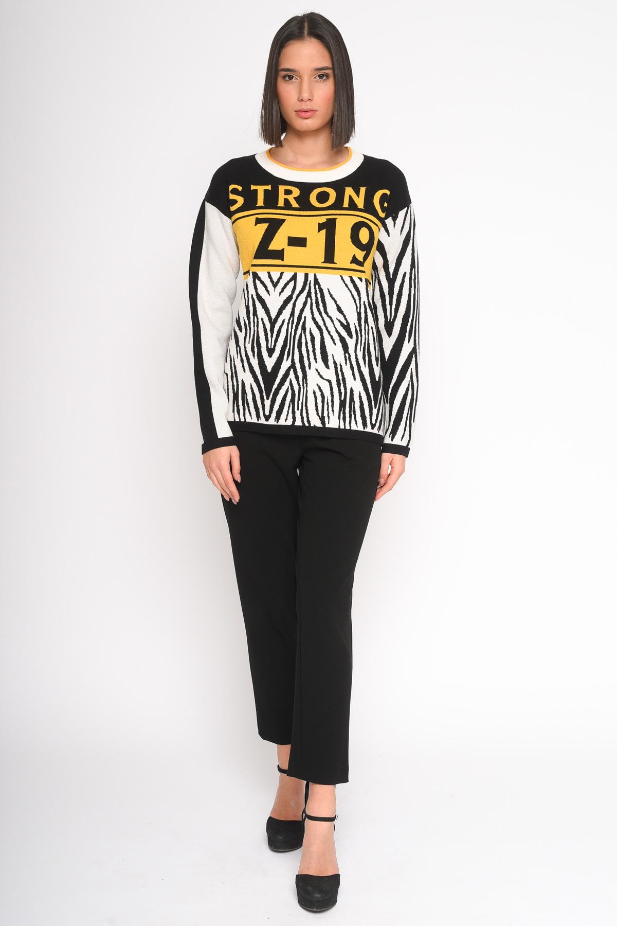 MAGLIA IN VISCOSA A FANTASIA ZEBRATA  for women - YELLOW - Paquito Pronto Moda Shop Online