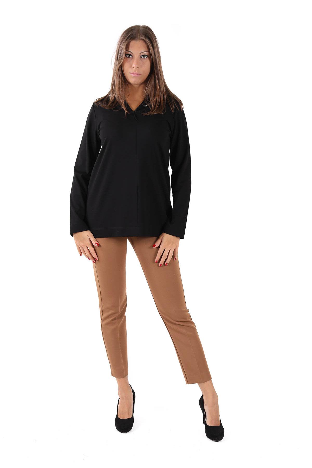MAGLIA IN PUNTO MILANO CON SCOLLO A  V  da donna -  - Paquito Pronto Moda Shop Online