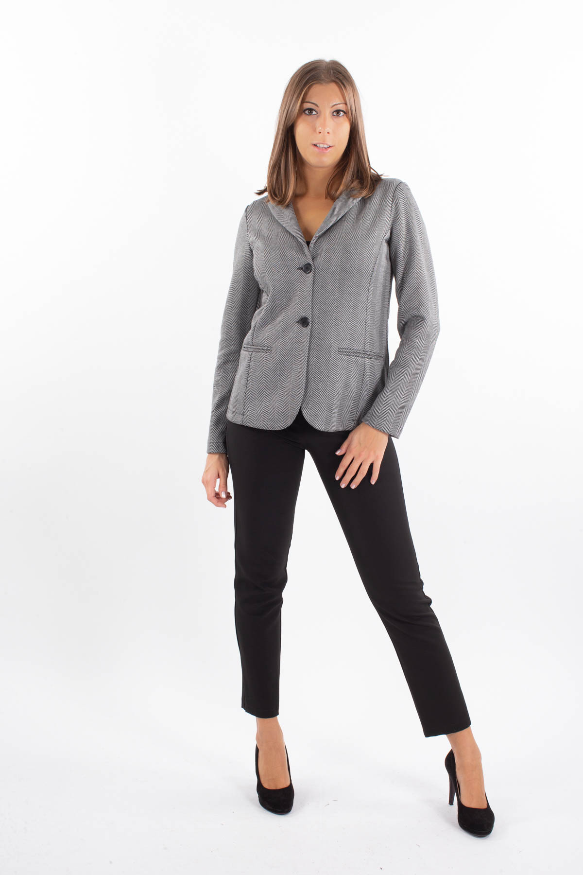 JACKET IN GEOMETRIC VISCOSE PATTERN  for woman - ONLY - Paquito Pronto Moda Shop Online