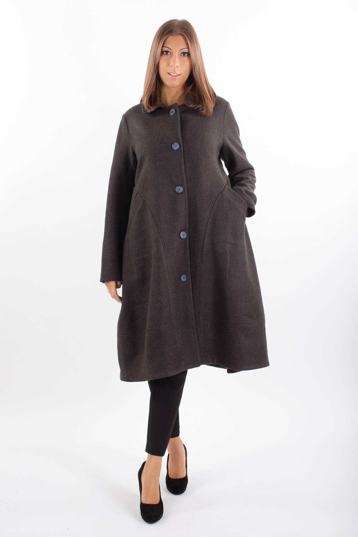 FLARED LONG COAT for women -  - Paquito Pronto Moda Shop Online