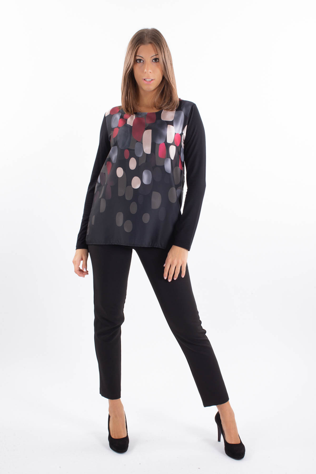 VISCOSE BLOUSE PATTERNED PRINT for women - ONLY - Paquito Pronto Moda Shop Online