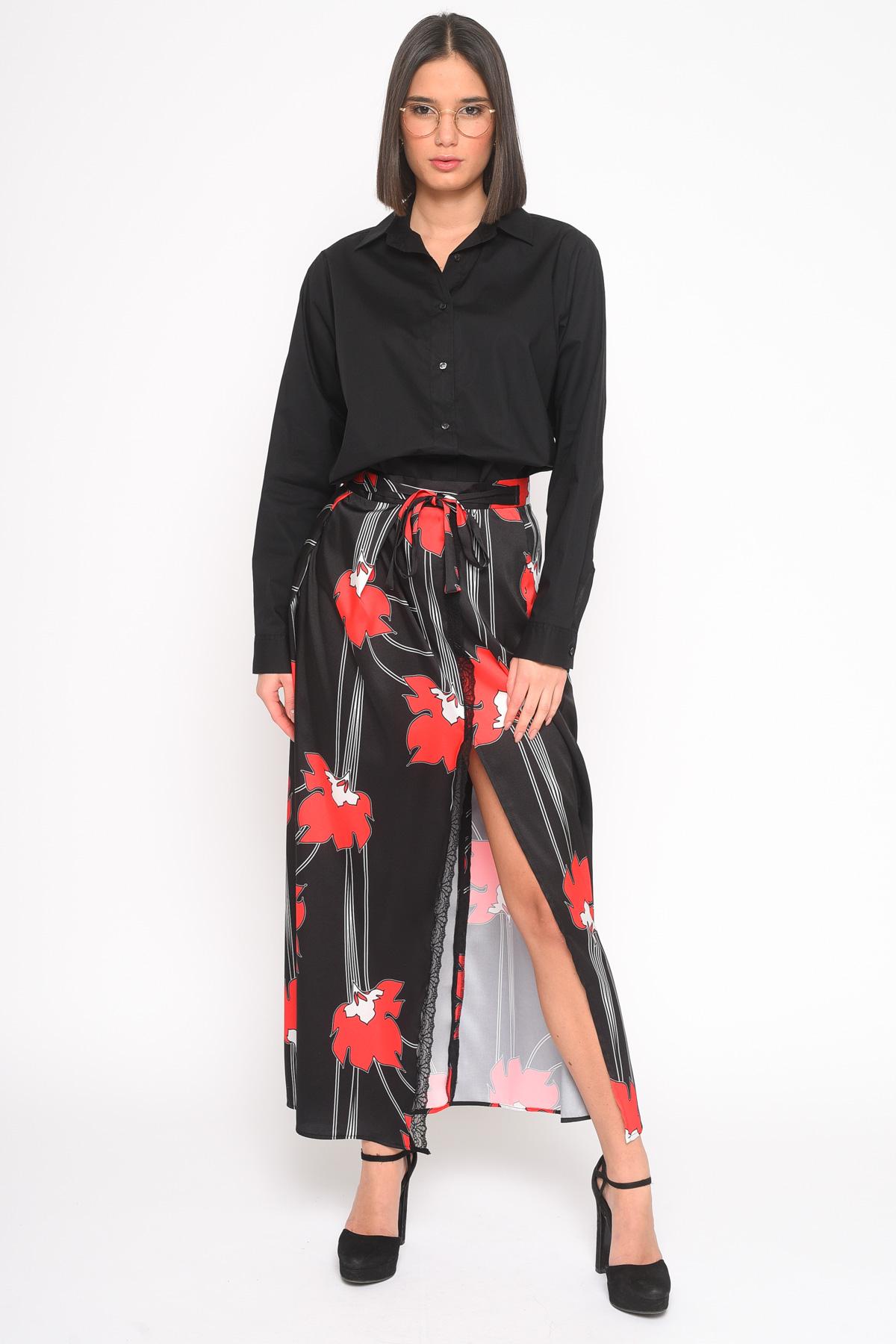 GONNA RASO IN FANTASIA CON SPACCO for women - ONLY - Paquito Pronto Moda Shop Online