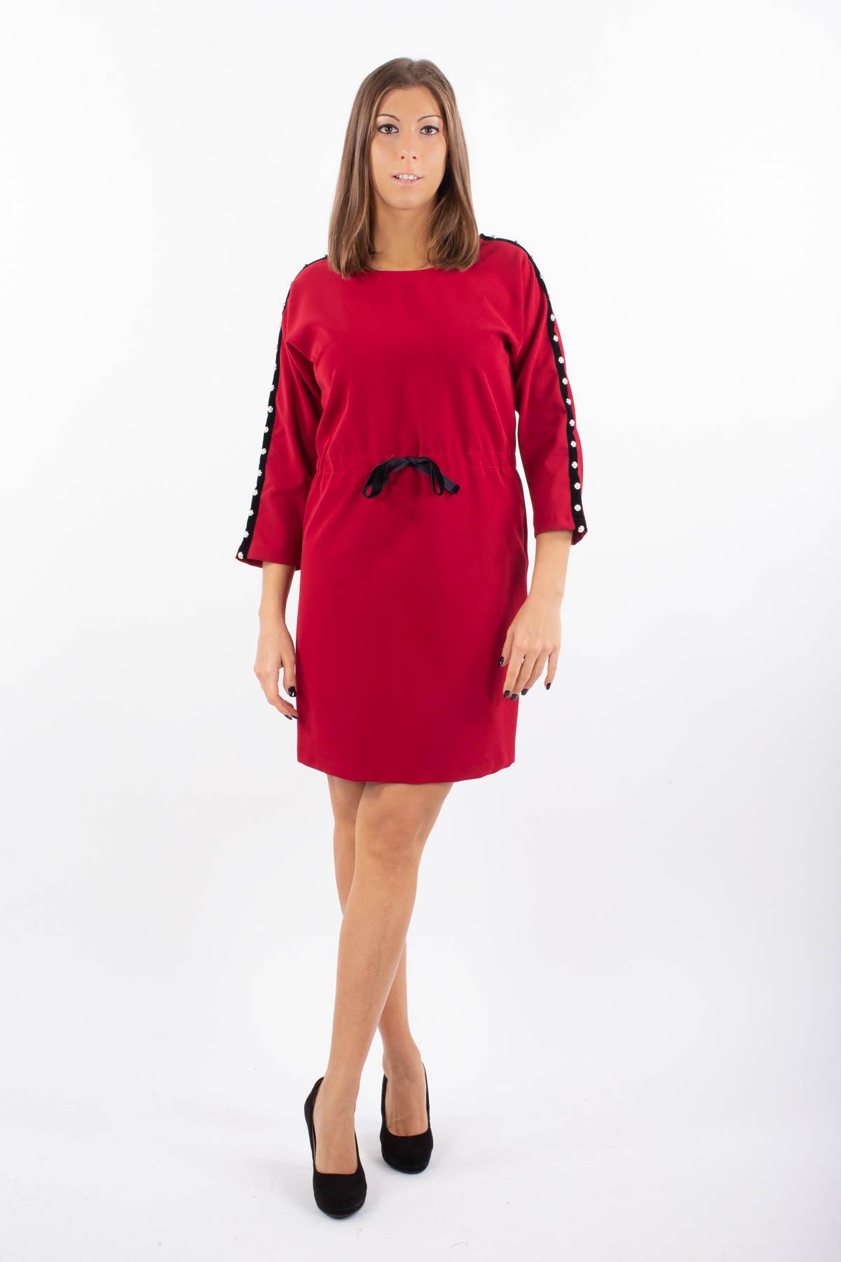 ABITO CON COULISSE IN VITA for women - RED - Paquito Pronto Moda Shop Online