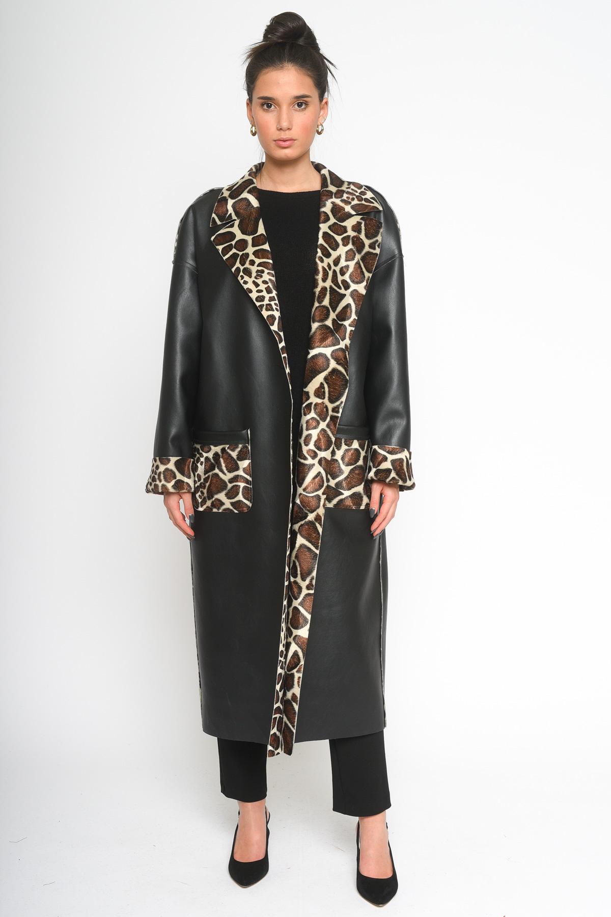 CAPPOTTO IN ECOPELLE REVERSIBILE MACULATO for women - ONLY - Paquito Pronto Moda Shop Online