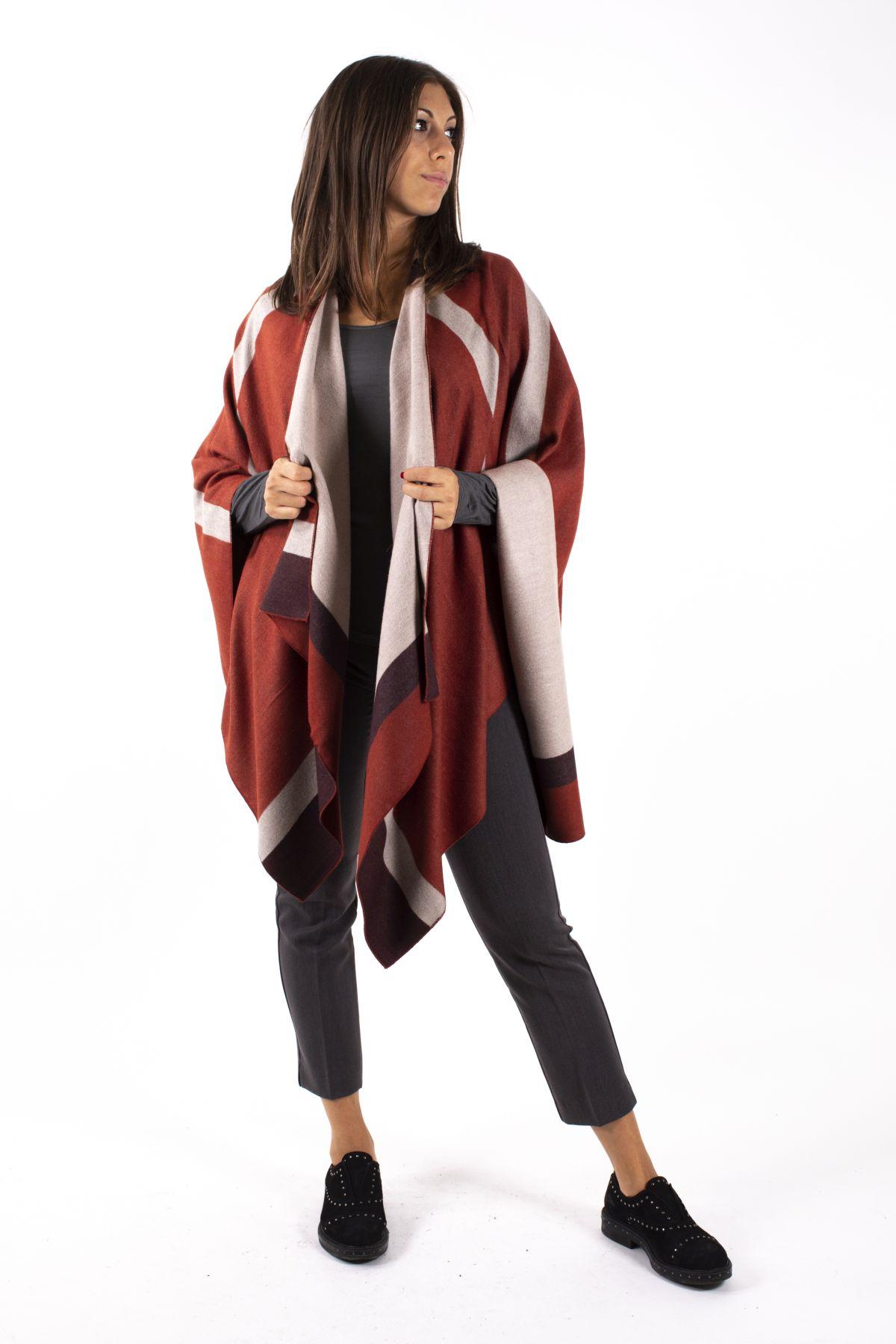 GIACCA A MANTELLA IN VISCOSA TRICOLORE  da donna - UNICA - Paquito Pronto Moda Shop Online