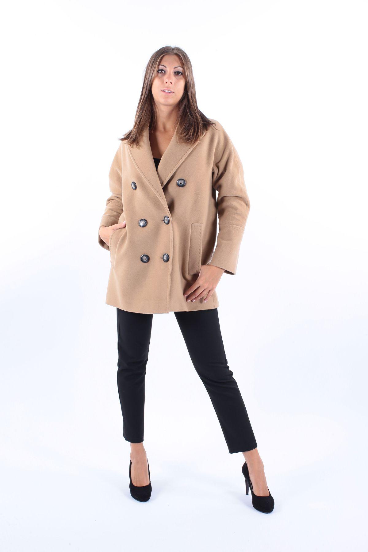 CAPPOTTO CORTO IN LANA MISTO CACHEMIRE  CON CHIUSURA DOPPIO PETTO da donna -  - Paquito Pronto Moda Shop Online