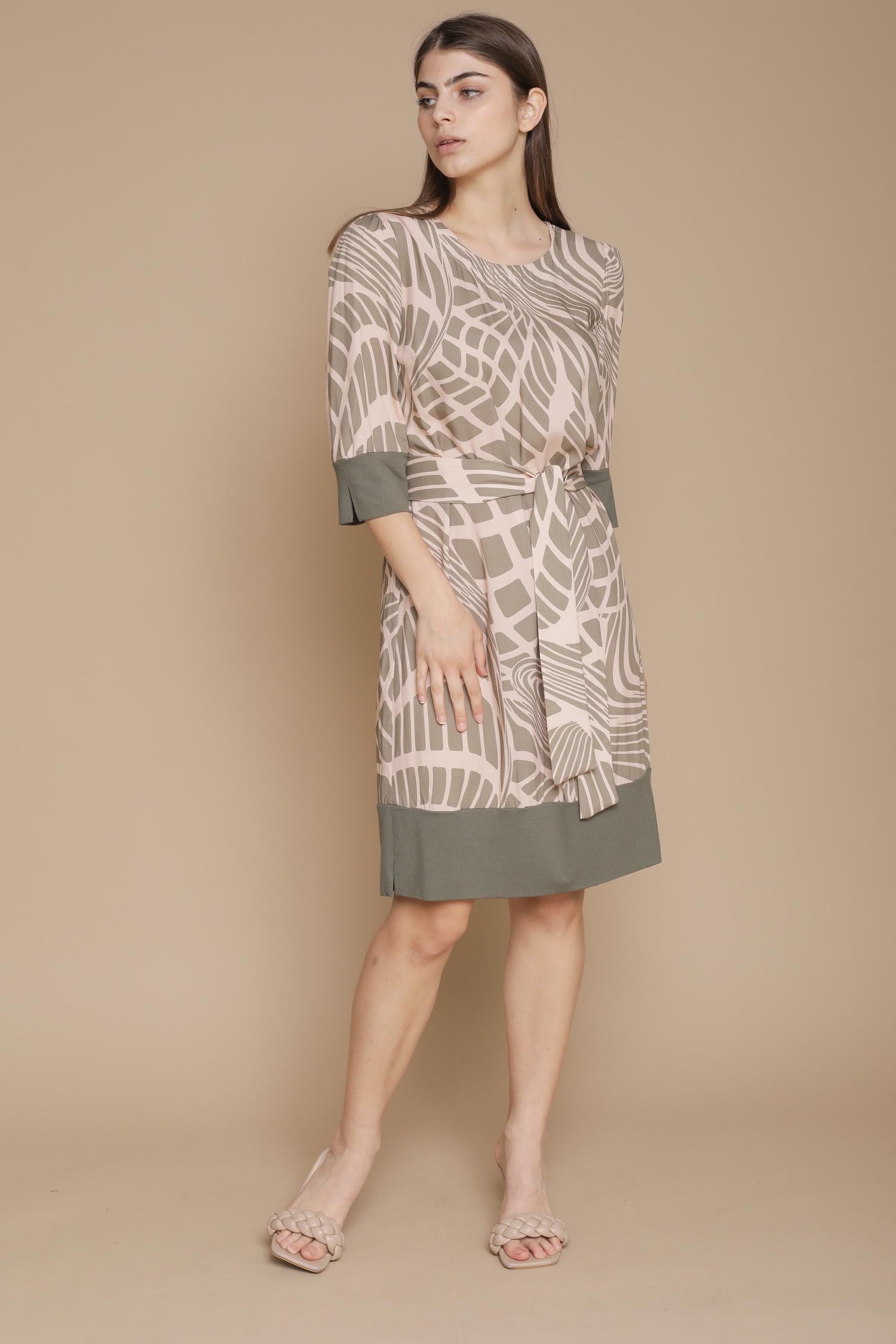 ABITO GEOMETRIC CON CINTURA  da donna - CIPRIA - Paquito Pronto Moda Shop Online