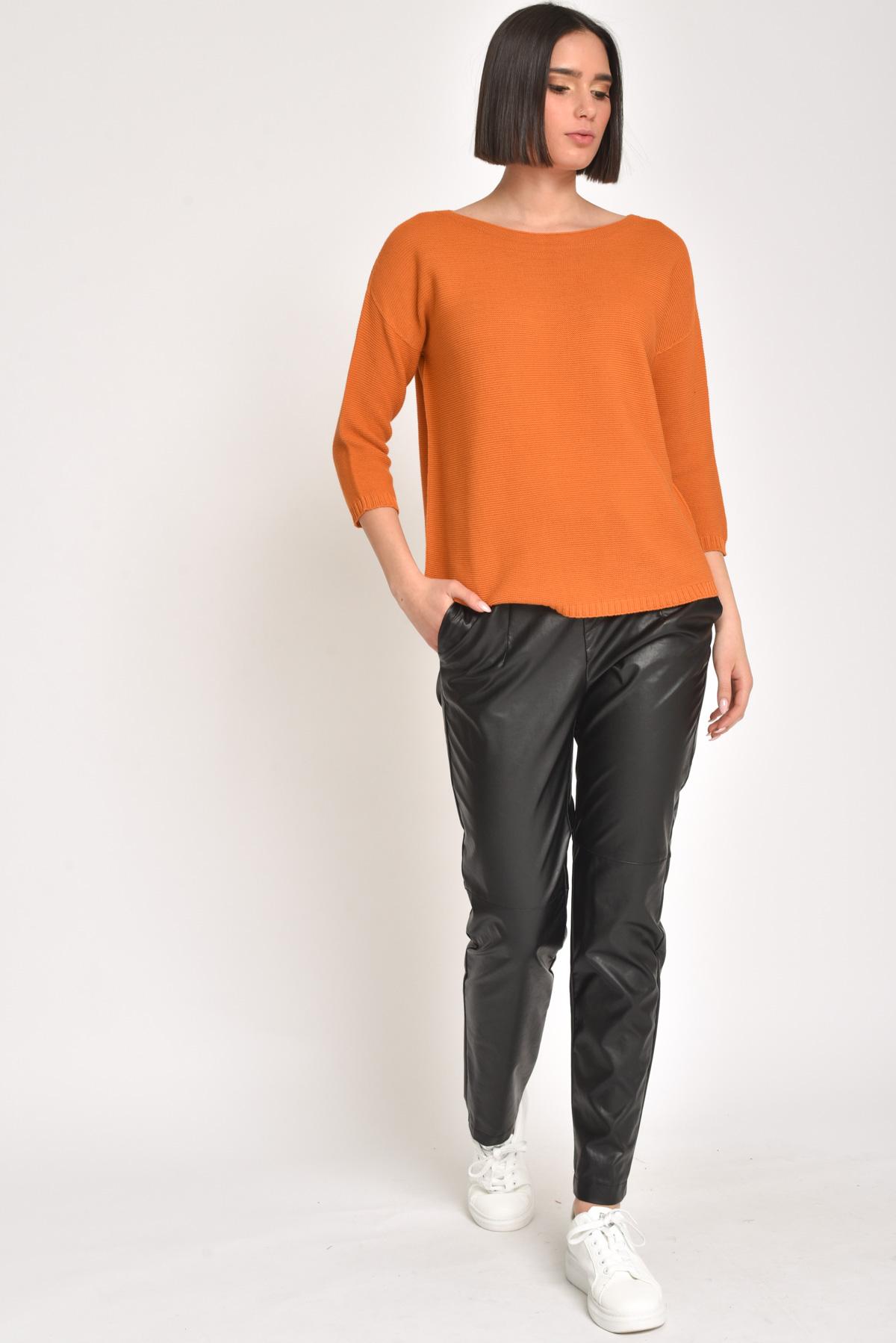 MAGLIA IN LINKS 100% COTONE for women - ARANCIO - Paquito Pronto Moda Shop Online