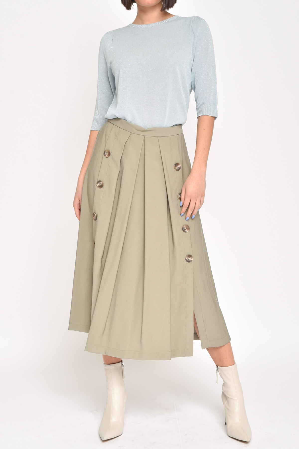 SKIRT WITH BUTTONS for women - CAKI - Paquito Pronto Moda Shop Online