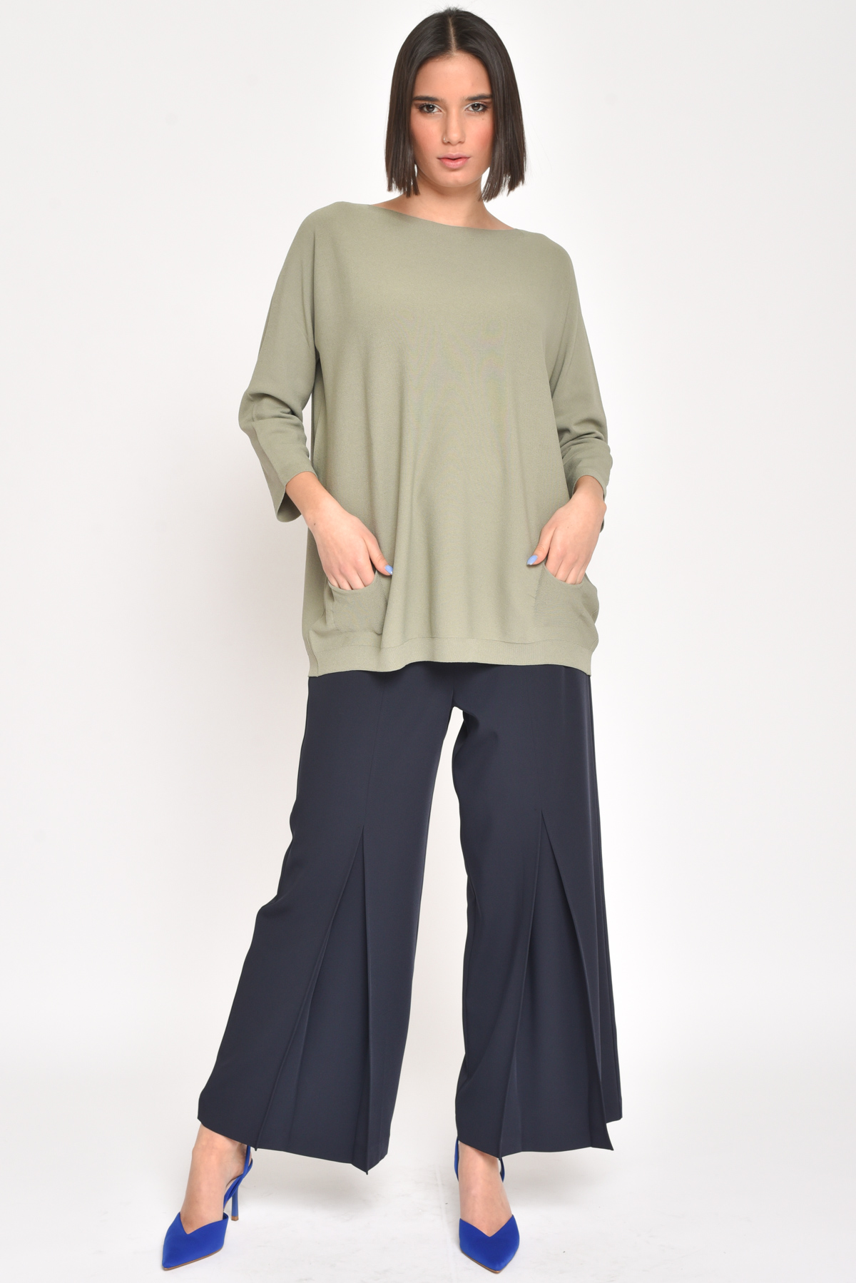 MAXI MAGLIA IN VISCOSA   da donna - CAKI - Paquito Pronto Moda Shop Online