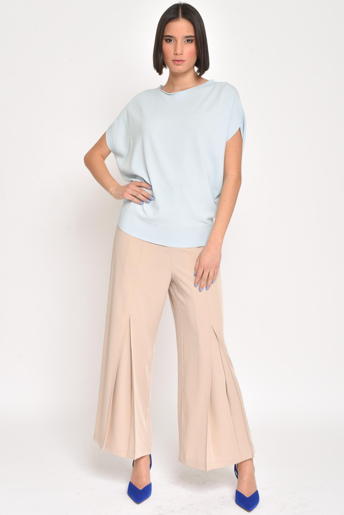OVERSIZE KIMONO SWEATER for women - LIGHT BLUE - Paquito Pronto Moda Shop Online
