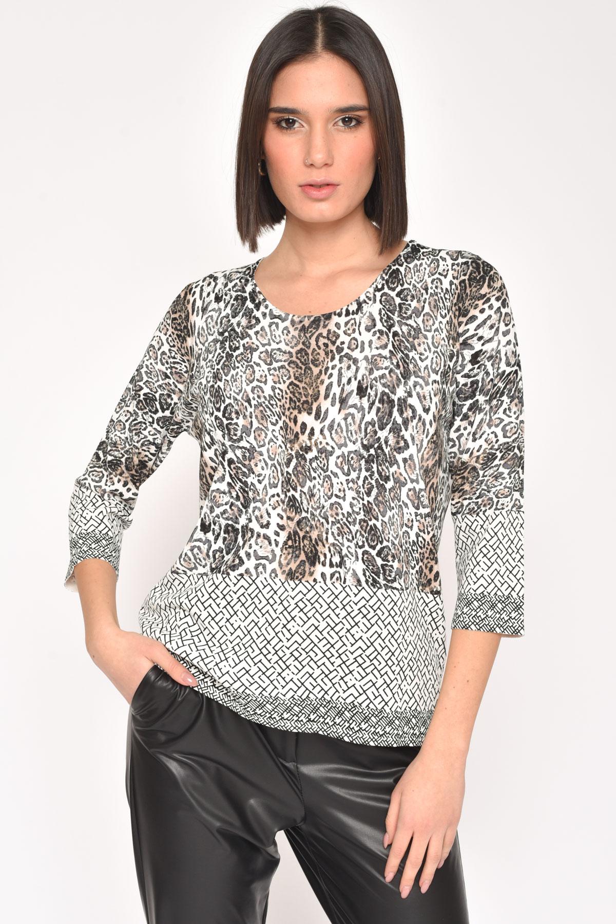 SPOTTED FANTASY VISCOSE BLOUSE for women - MACULATO - Paquito Pronto Moda Shop Online