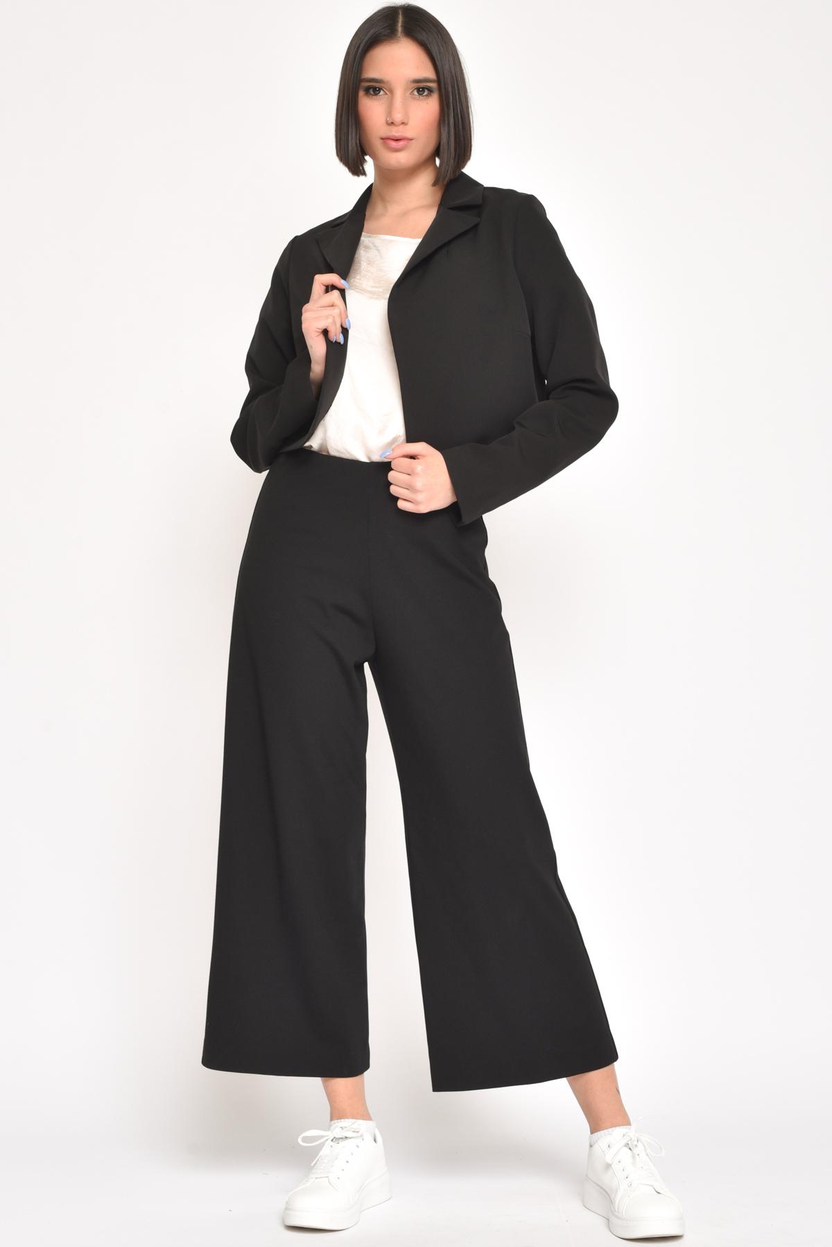 GIACCA APERTA CON COLLO A REVER for women - BLACK - Paquito Pronto Moda Shop Online