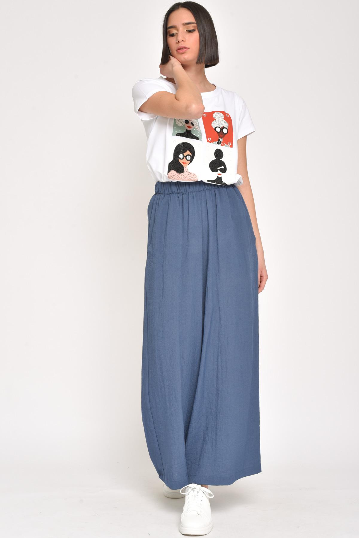 PANTALONI CROPPED IN VISCOSA for women - JEANS - Paquito Pronto Moda Shop Online