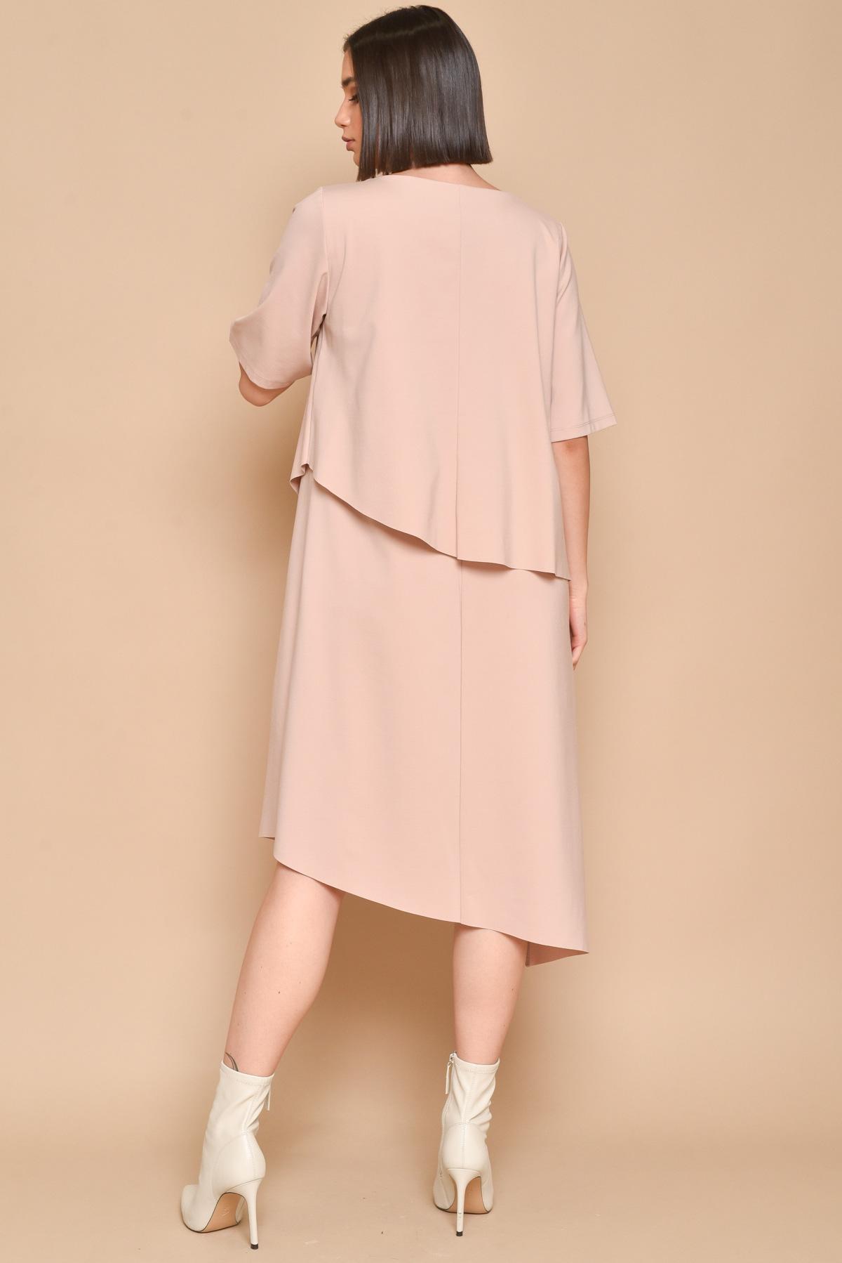 ABITO CON TESSUTO SOVRAPPOSTO  for women - PINK - Paquito Pronto Moda Shop Online