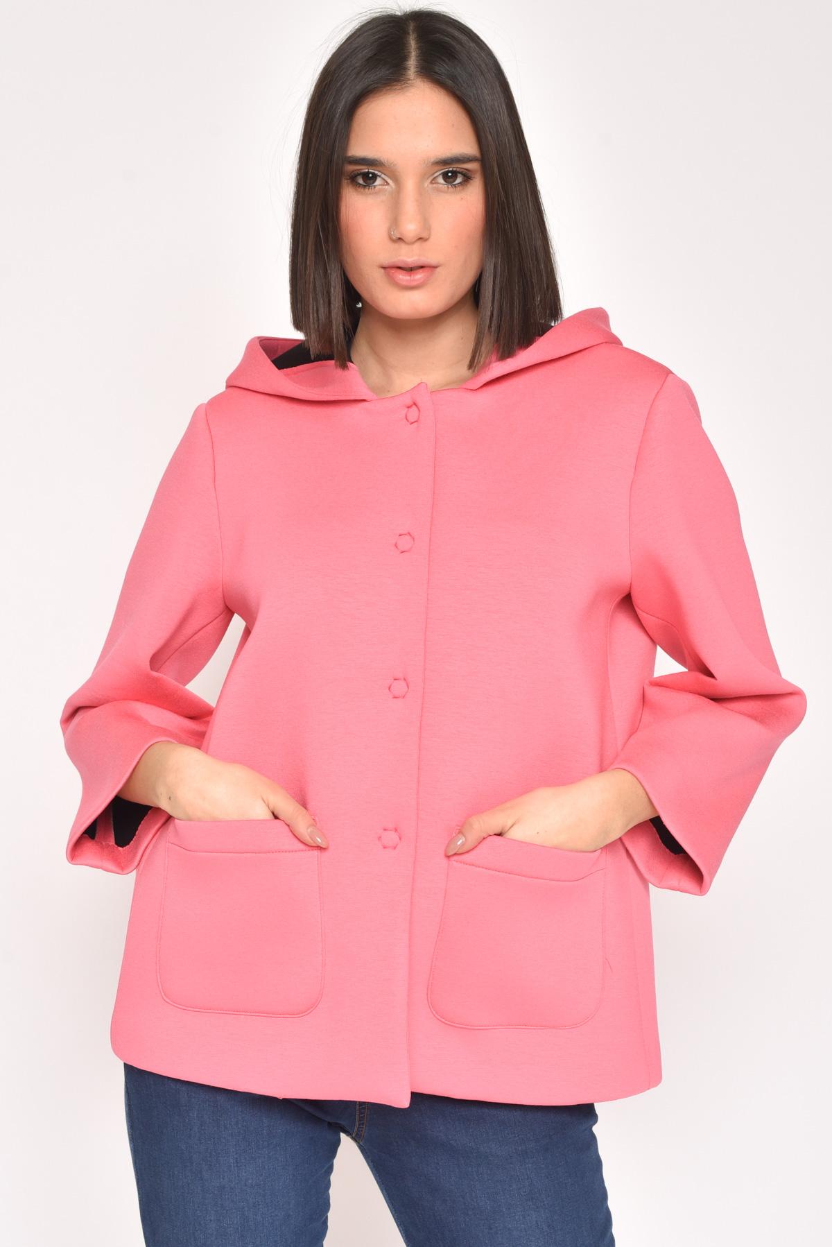 GIACCA OVERSIZED IN SCUBA for women - FUCHSIA - Paquito Pronto Moda Shop Online