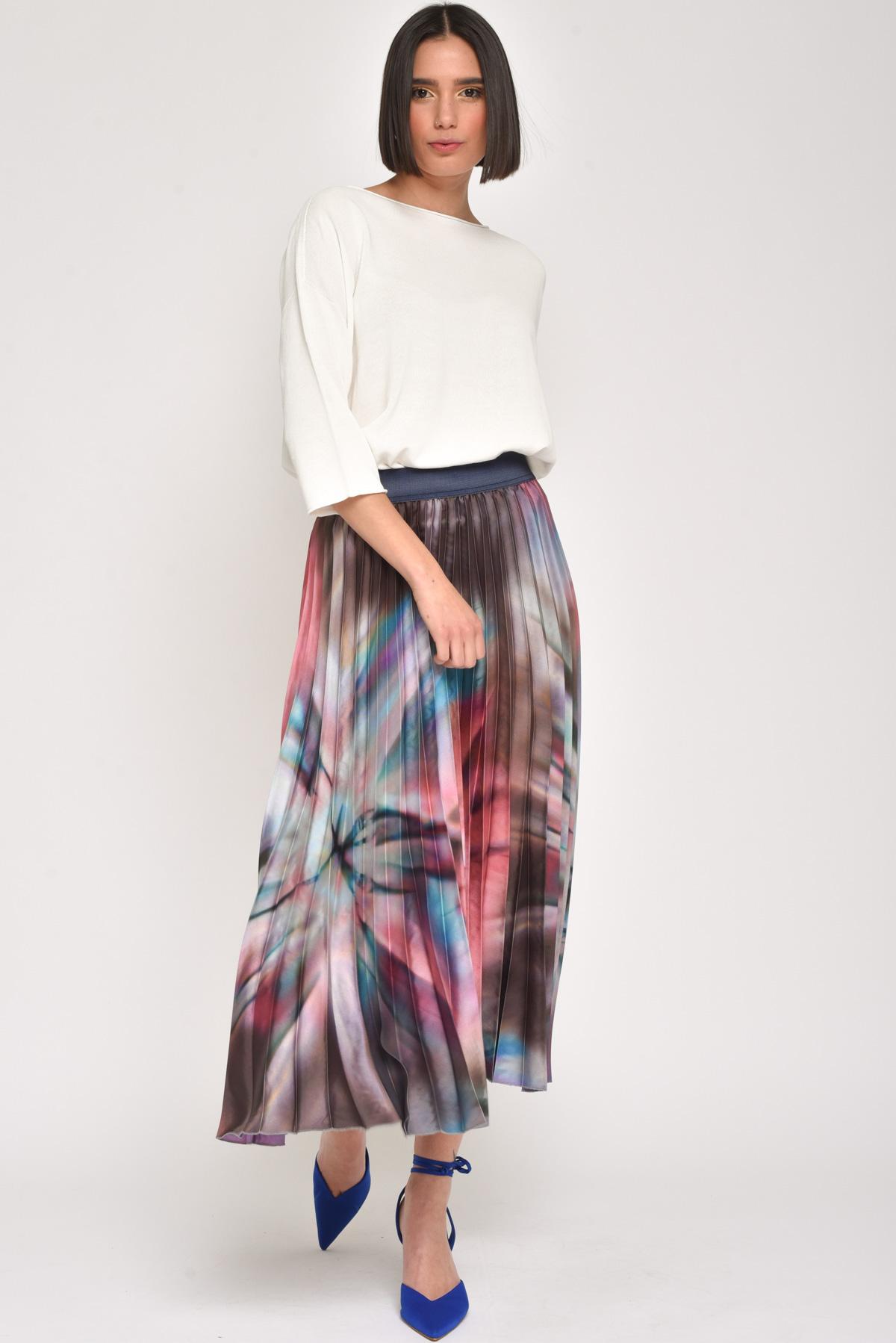 GONNA LUNGA PLISSETTATA  for women - MULTICOLOR - Paquito Pronto Moda Shop Online