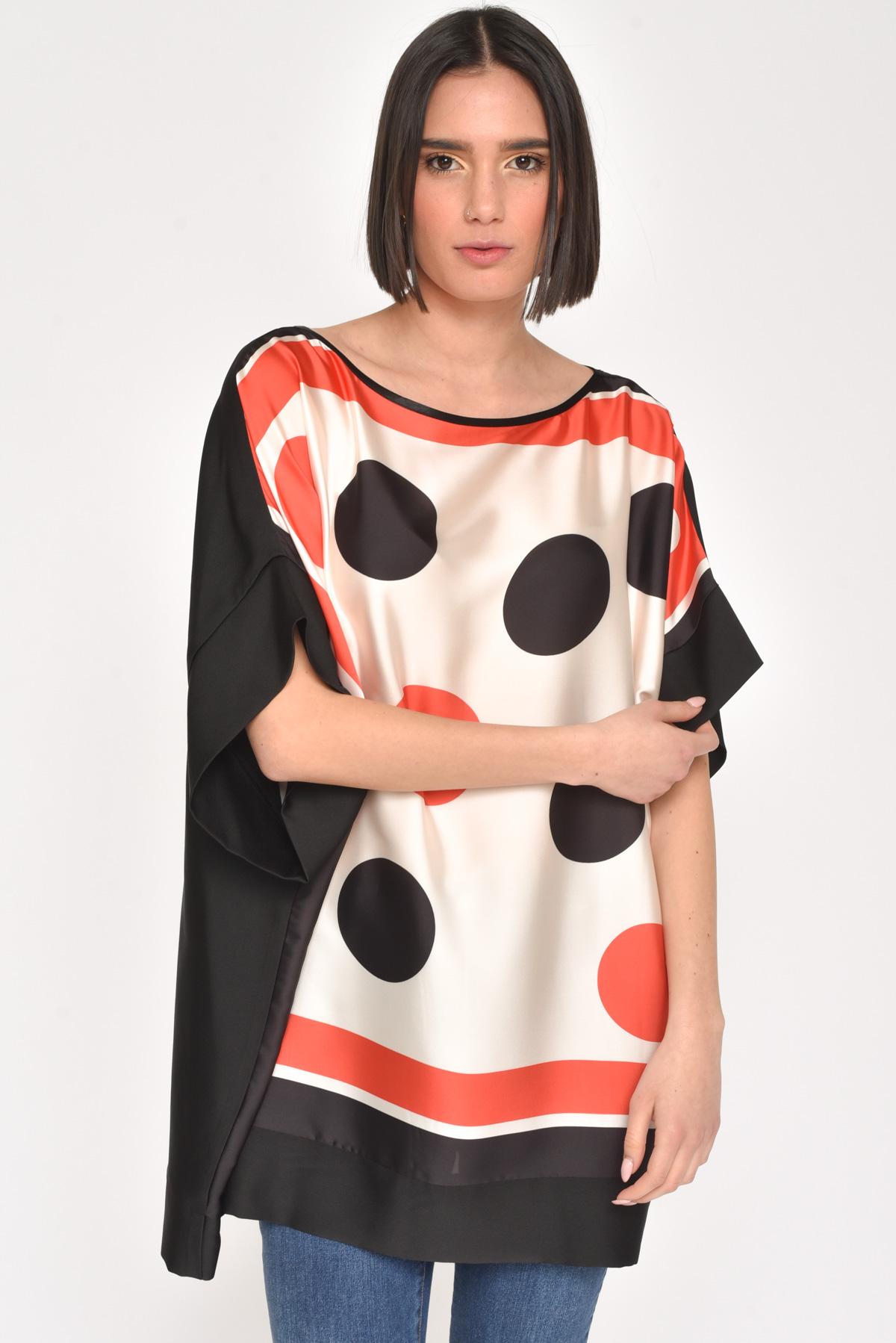 BLUSA POIS BICOLORE for women - CORALLO - Paquito Pronto Moda Shop Online