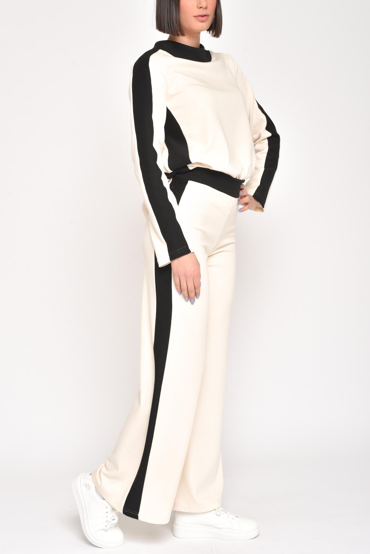 PANTALONE A PALAZZO ELASTICIZZATO  for women - CREAM - Paquito Pronto Moda Shop Online