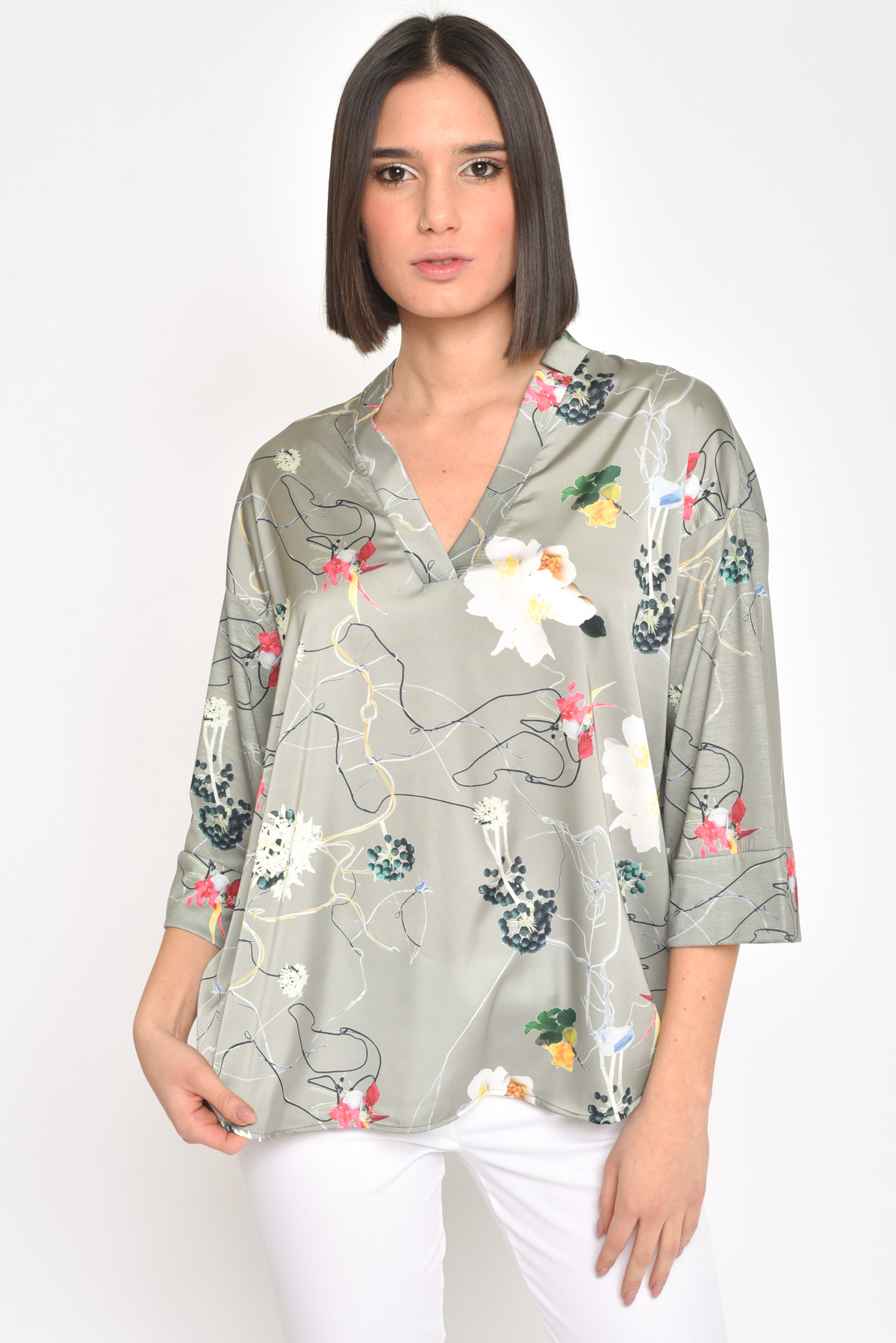 BLUSA EXOTIC FLOWER for women - CAKI - Paquito Pronto Moda Shop Online