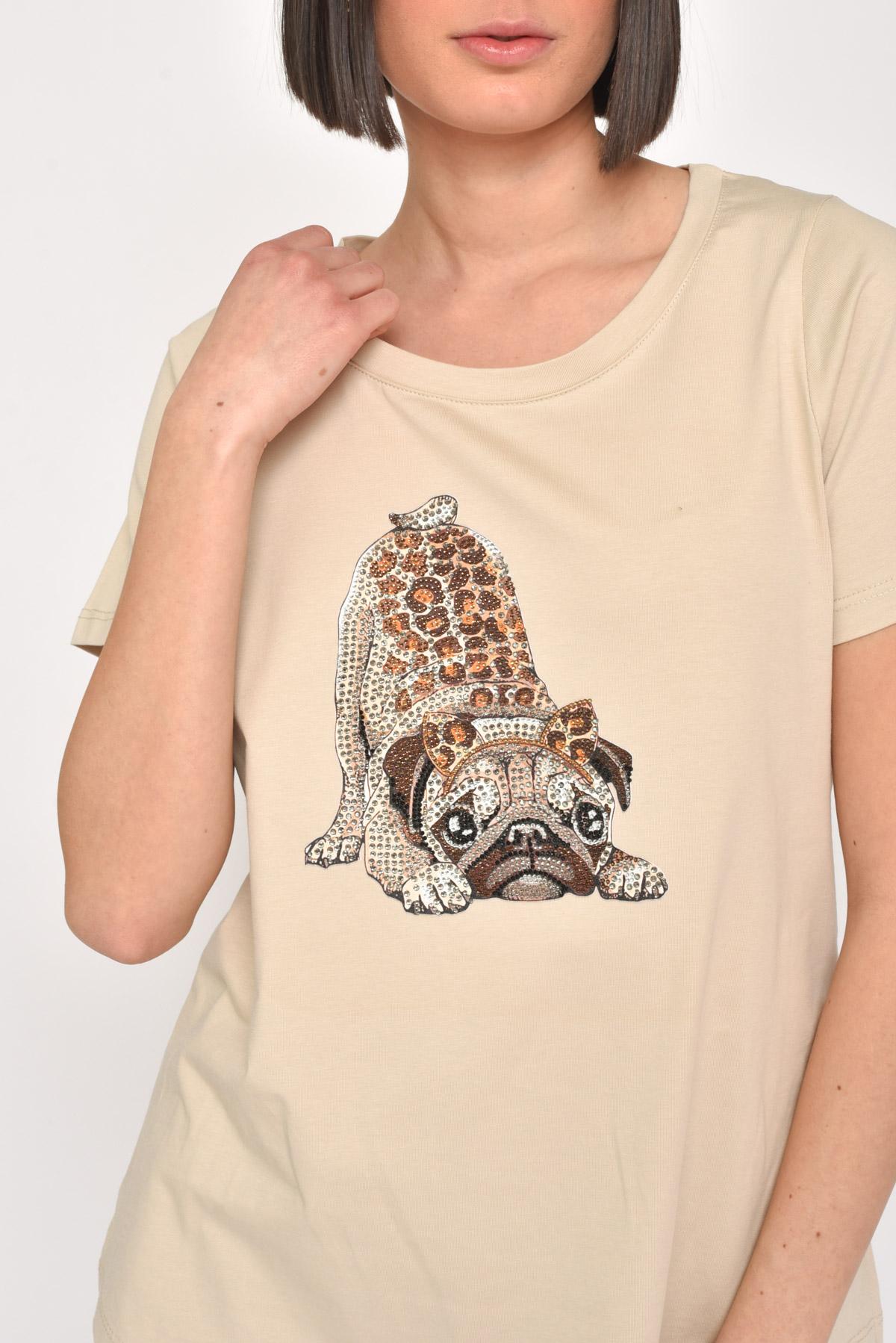 T-SHIRT CARLINO CON STRASS for women -  - Paquito Pronto Moda Shop Online