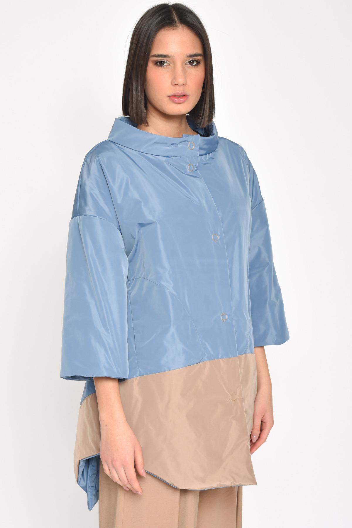 GIACCA OVER  BICOLORE for women - AVIO - Paquito Pronto Moda Shop Online